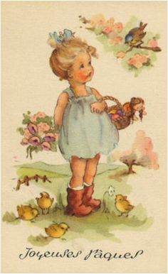 French Vintage Easter Cards