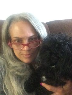 Poodle Love! Poodle Mom! I think every person living with #HIV should own a dog... They add so much value!!! Rae Lewis-Thornton and Chloe Chanel #divivingeifhAIDS #poodle #hiv #aids