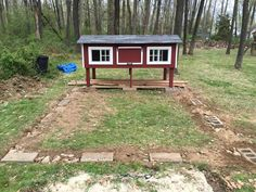 Post with 1833 views. Chicken Coop Rebuild and New Run Box Building, Nesting Boxes, Side Door, Chickens Backyard, Coops, Cinder Blocks, House Styles, Foundation, Rock