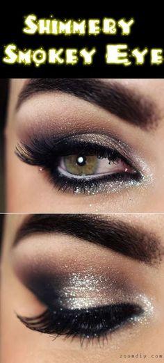 Shimmery Smokey Eye Makeup