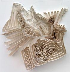 Imane Mellah paper art wallpiece