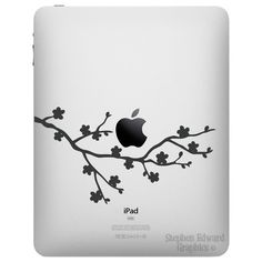 Cherry Blossom iPad Decal by Stephen by StephenEdwardGraphic, $6.00