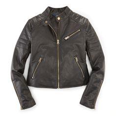Vegan Leather Moto Jacket - Outerwear & Jackets  Girls' 7–16 - RalphLauren.com