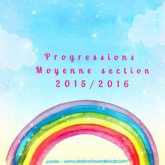 Voici mes progressions pour la moyenne section d'après les nouveaux programmes.  - PÉRIODE 1 2015-2016  (1).pdf  - PÉRIODE 2 2015-2016.pdf  - PÉRIODE 3 2015-2016.pdf  - PERIODE 4 2015-2016.pdf  - PÉRIODE 5 2015-2016.pdf