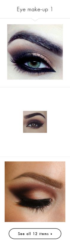 """Eye make-up 1"" by darklover02 ❤ liked on Polyvore featuring beauty products, makeup, eyes, eye makeup, eyeshadow, smokey eye, benefit cosmetics, benefit makeup, benefit eye makeup and mary kay eyeshadow"