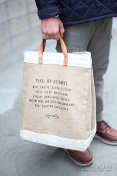 Reusable customised organic tote bag.