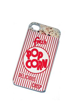 iPhone Case Movie Theater Popcorn Snack iPhone Hard Case / Fits Iphone 4, 4S:: i LOVE this-- i need to get something for this to cover! xD