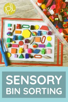 Add these sorting mats to your centers for extra fine motor development practice! The 30 differentiated pages are based on common classroom manipulatives. From Positively Learning Blog #sensorybins #finemotor