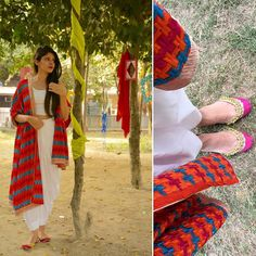 Hey all! Enjoying the wedding season? Well, we've brought together an exciting  look for you all to flaunt at the next ladies sangeet you attend   Style a white patiala with a crop top and drape around a gorgeous Phulkari Dupatta and these beautiful juttis from @panache_an_elite_affair to be a sure head turner  Go check out their amazing collection at www.panachehub.com ❤