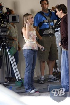Jennifer Love Hewitt was spotted in a pair of AG jeans on the set of Ghost Whisperer.