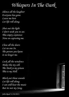 Whispers In The Dark, Dark Poetry