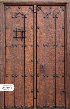 Puerta rustica de madera de roble maciza 22x120x8 arco de - Puertas rusticas alpujarrenas ...