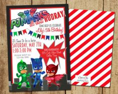 Pj mask birthday invitations for inspirational surprising birthday invitation ideas create your own design 20