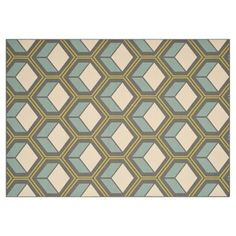 Looking for this somewhere other than One Kings Lane! Claude Outdoor Rug, Gray/Blue
