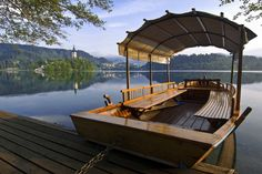 A small island in the middle of Lake Bled is a specialty of Bled and a popular tourist spot, which can be reached with a traditional wooden boat called a 'pletna'. It is said that anyone who did not take a pletna ride didn't actually visit Bled.