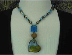 1/KIND Whimsical and Romantic Necklace:  Turquoise, Magnesite, and Hematite Gems! 1/KIND Whimsical and Romantic Necklace:  Turquoise, Magnesite, and Hematite Gems! 1/KIND Whimsical and Romantic Necklace: Turquoise, Magnesite, and Hematite Gems!