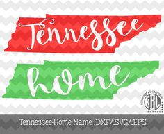 Tennessee Home Name design pack- .DXF/.SVG/.EPS File for use with your Silhouette Studio Software