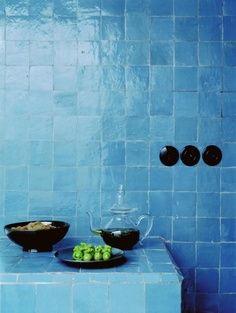 Attraktiv Azulejos Blaue Fliesen, Mediterraner Stil, Blau Grün, Bäder Ideen,  Europäisches Heimkultur,