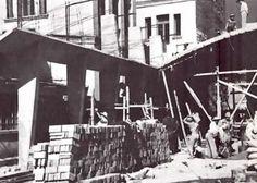 Boliches Marsella durante la construcción, calle Marsella 23-A, Col. Juárez, México DF 1950  Arq. Félix Candela -   Boliches Marsella (Marsella Bowling) during construction, called Maresella 23-A, Col. Juarez, Mexico City 1950