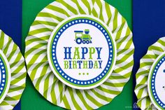 ♥ Vintage Green Train BirthdayParty Theme ♥ II Shop Here: https://www.etsy.com/shop/LeeLaaLoo/search?search_query=b96&order=date_desc&view_type=gallery&ref=shop_search II Party Styling: LeeLaaLoo - www.leelaaloo.com  II Party Printable Design & Decoration: LeeLaaLoo - www.etsy.com/shop/leelaaloo