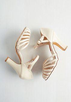 Sunporch Serenade Heel in Eggshell | Mod Retro Vintage Heels | ModCloth.com