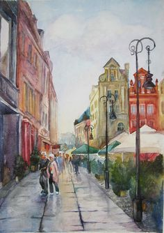 Check out this item in my Etsy shop https://www.etsy.com/listing/513212777/cityscape-painting-couple-painting-town