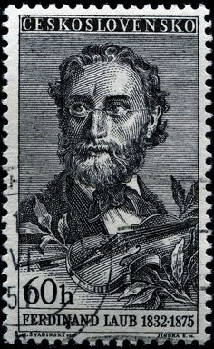 Ferdinand Laub (1832-1875) was a Czech violinist and composer. Post stamp from Czechoslovakia, circa 1957