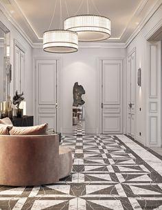 Studio › Fabulous story in Paris Flat Interior, Luxury Homes Interior, Classic Interior, Luxury Home Decor, Cool Apartments, Luxury Apartments, Interior Design Studio, Interior Design Living Room, Suites
