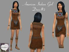 Cocobuzz's American Indian Girl Dress V2