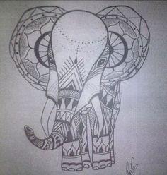 Elephant  Nanquim sobre papel