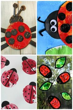 15 Adorable Ladybug Craft Ideas ~ Spring Crafts for kids