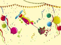 Birthday Party vector free