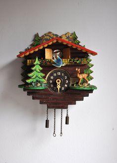 Vintage German Cuckoo Clock. via Etsy.