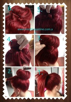 How to do a bun with hair bow!  www.missblissonline.com.au  For professional hair styles come in and get our team to help you out at Miss Bliss Hair Boutique. Gold Coast  07) 55114753