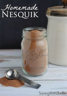 Homemade Nesquik couldn't be easier. Just 3 simple ingredients. Whip up a batch to use for chocolate milk, Cafe Mocha, chocolate cool whip and more!