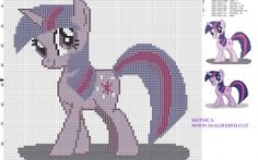 Twilight (My Little Pony) patron punto de cruz