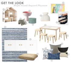 Get The Look Scandi House Playroom 1 - the midcentury cabinet pulls Minimal House Design, Minimal Home, Cheap Home Decor, Diy Home Decor, Interior Design Layout, Scandinavian Home, Minimalist Decor, Inspired Homes, Home Decor Accessories