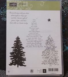 Stampin' Up! Retired EVERGREEN CM Stamps Lovely Trees Pines Winter Holiday NEW! in Crafts, Stamping & Embossing, Stamps | eBay