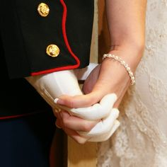 Marine Wedding I never had a dress blue wedding and in fact loved the simplicity of being married at Usmc Love, Marine Love, Military Love, Military Ball, Military Couples, Marine Ball, Military Humor, Military Police, Blue Wedding