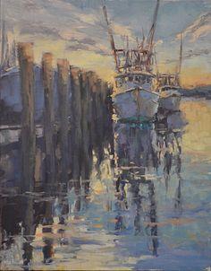 """Dottie T Leatherwood ~ """"Arrangement in Blue"""" ~ Oil on Panel 16 x 12"""