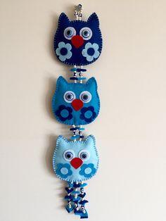 keçe fil duvar süsü                       keçe fil nazarlık                 ... Bear Felt, Felt Owls, Felt Baby, Crafts To Do, Diy Craft Projects, Felt Crafts, Arts And Crafts, Felt Christmas, Christmas Ornaments