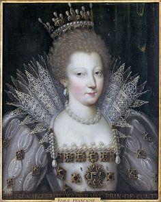 Portrait de Louis-Marguerite de Lorraine, princesse de Conty. Ecole française, entre 1600 et 1610.