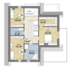 DOM.PL™ - Projekt domu FA Oliwia CE - DOM GC6-40 - gotowy koszt budowy Floor Plans, Exterior, Minimal, Traditional, Home, Home Ideas, Homes, Outdoor Rooms