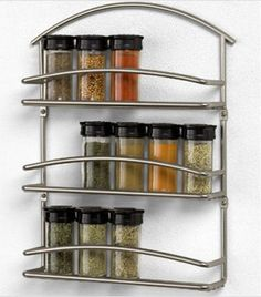 wall mounted spice rack for spices storage
