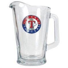 Texas Rangers Large Glass Beer Pitcher