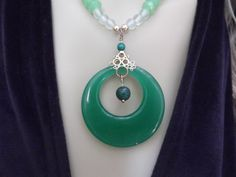 Pretty Spring Green Asian Inspired Necklace and Earring Set********OOAK********