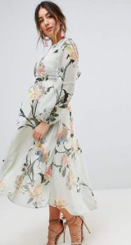 Oh my gosh I need this maternity dress! Perfect for spring and summer!   Hope & Ivy Maternity Long Sleeve Printed Dress With Lace Trim And Ruffle Open Back Detail   maternity dress   summer maternity   spring maternity   maternity fashion   maternity wardrobe   floral maternity   maternity dress   maternity clothes   pregnancy   bump style   #affiliate #floralmaternity #summermaternity