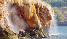 Kleurrijk Edipsos in Noord-Evia !  Geniet van de prachtige kleuren en heerlijk warme natuurlijke bronnen in een van de hotels of gewoon in de Zee ! http://www.prinosreizen.nl/evia
