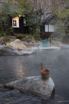 Rotemburo in Kurokawa onsen, Kyushu, Japan Kyushu, Places To Travel, Travel Destinations, Places To Visit, Kurokawa Onsen, Japanese Hot Springs, Japanese Bath, Open Air, Japanese Culture