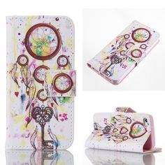 Painted Wallet PU Leather Phone  Case For Apple iPhone 7 6 Plus 5 7G SE 6c 5SE 55s 5G iphone55s iphone6 iphone7 Covers Bags Skin